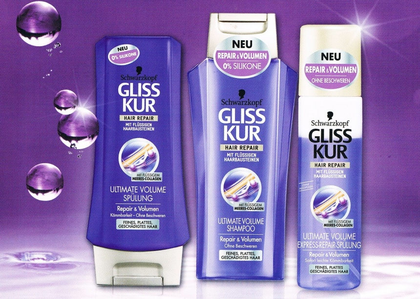 schwarzkopf gliss kur ultimate volume shampoo. Black Bedroom Furniture Sets. Home Design Ideas